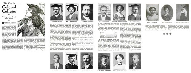 Black College Graduates from 1912 - Crisis Magazine, June, 1912