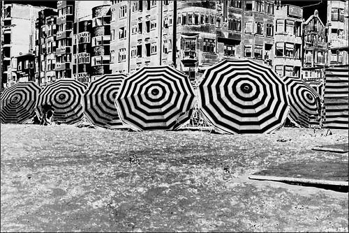 1969_Parasols at the Belgian coast
