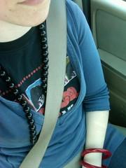 Driving.