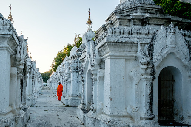 Monk at Kuthodaw Pagoda