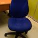 Ex demo new blue 2 lever swivel chair no arms E55
