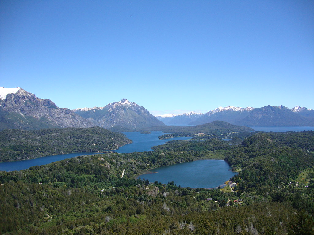 Cerro Campanario lookout over the Argentine Lake District