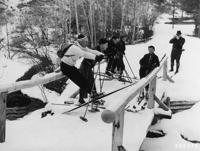 Ski party break.