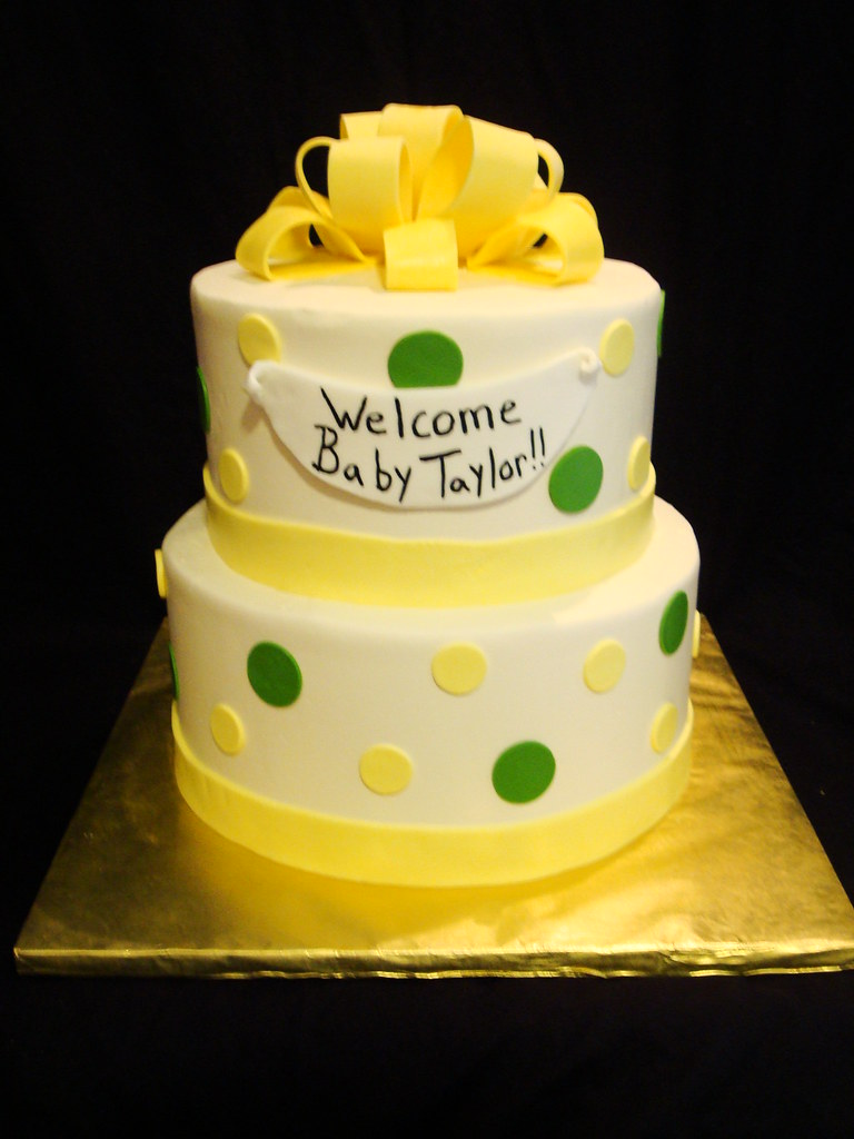 Yellow And Green Baby Shower Cake Holley Quijano Flickr