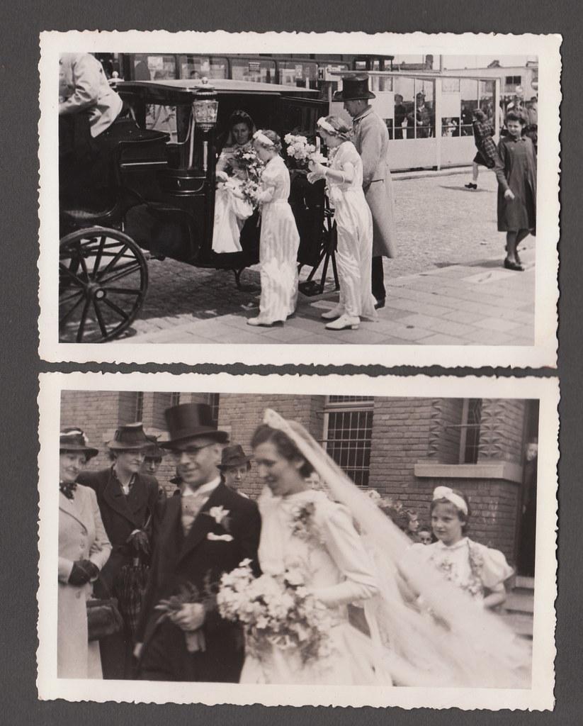 Found photo album, Rotterdam weddings 1940, page 19 | Flickr