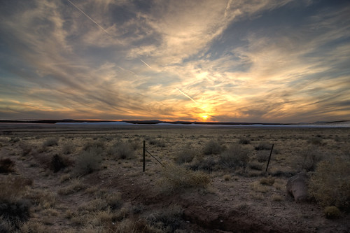 sunset arizona desert hdr
