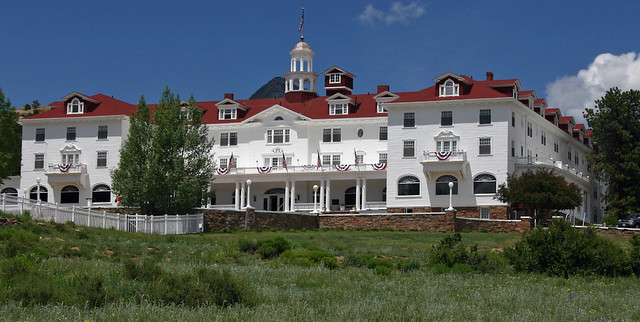 The Stanley Hotel, a famous lodge in Estes Park, Colorado