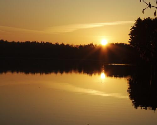 light water sunrise massachusetts newengland reservoir framingham