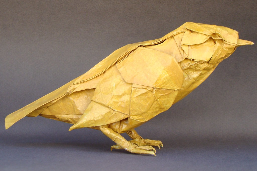 Origami Little Bird timelapse (Satoshi Kamiya) - YouTube | 684x1024