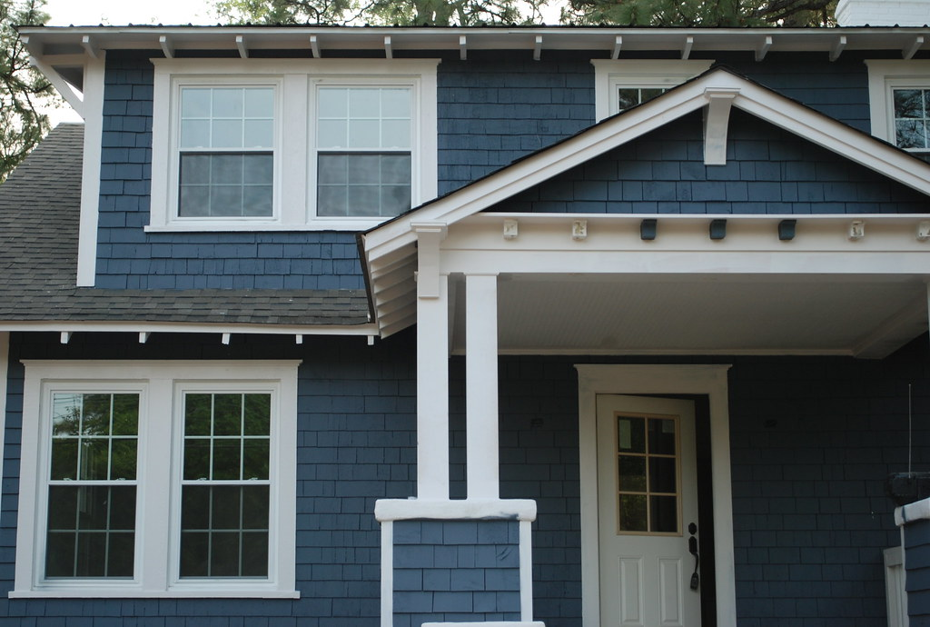 Beau 3rd Exterior Paint Job | Sherwin Williams Outerspace, Trim C ...