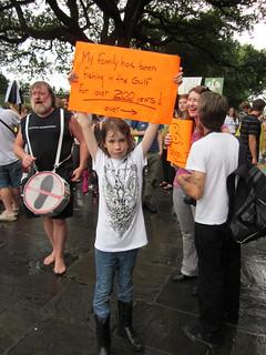 BP Oil Spill Protest Jax Square Fishing 1