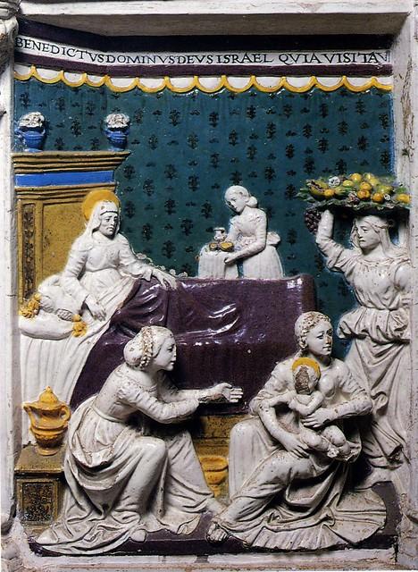 Giovanni della Robbia, La nascita del Battista. Cerreto Guidi, San Leonardo