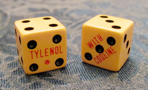 vintage doctor's swag -  craps dice advertise tylenol with codeine | by woodleywonderworks