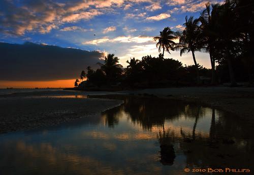 clouds sunrise reflections palms florida palmtrees pineisland bokeelia bocilla