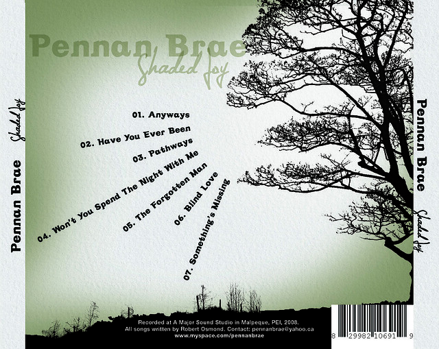 Shaded Joy by Pennan Brae (Back Cover)