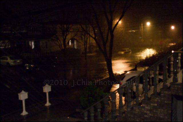 Staten Island Flooded Street