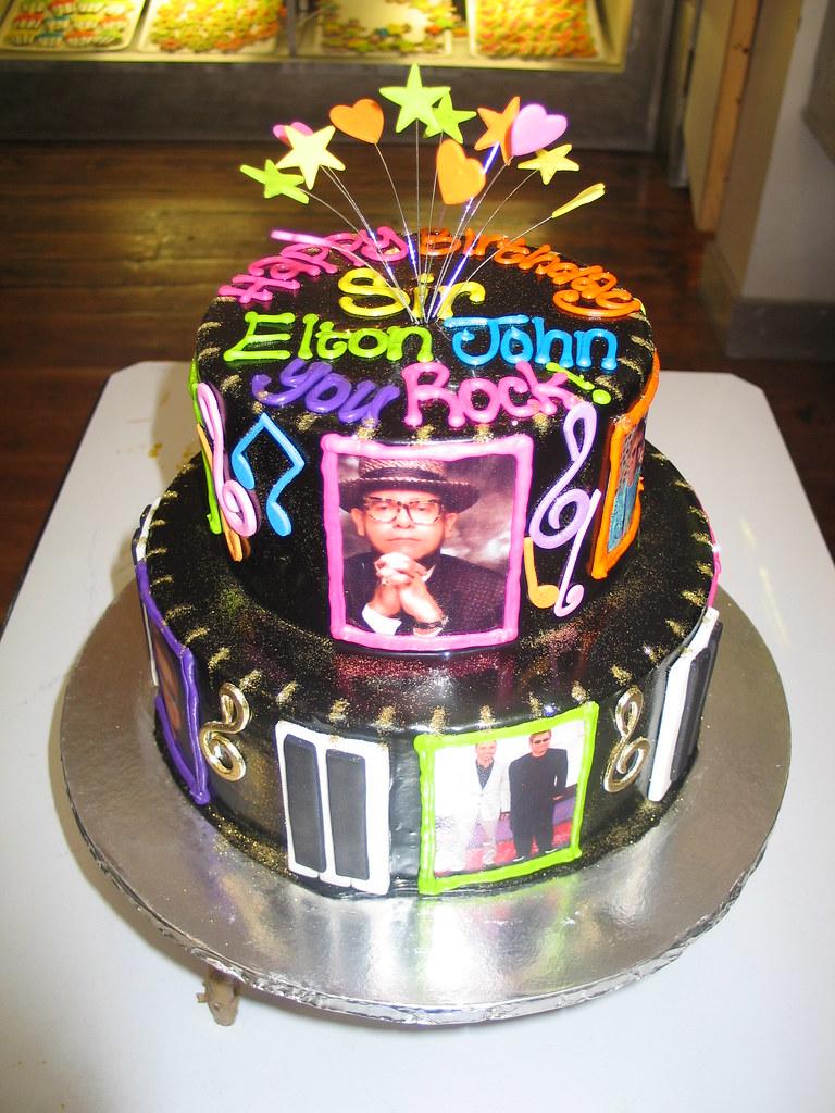 Cool Sir Elton Johns Birthday Cake Sir Elton Johns Birthday C Flickr Personalised Birthday Cards Beptaeletsinfo