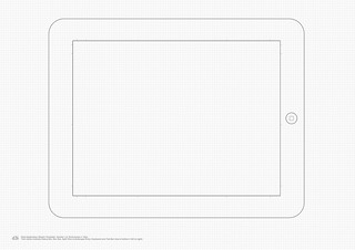iPad Application Sketch Template v1 | by - Oliver Waters -