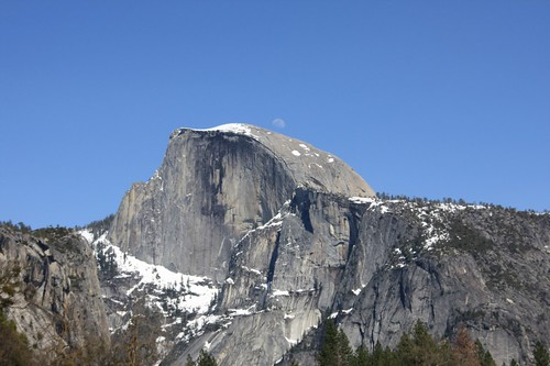 Half Dome with Moon | by LeDaemon