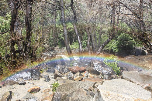 Rainbow below Waterfall   by LeDaemon