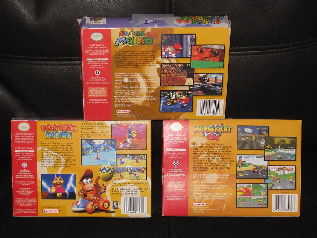 N64 -Super Mario 64 - Diddy Kong Racing - Mario Kart 64