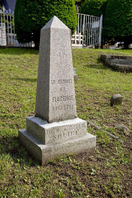 函館外国人墓地 19 Florence Squier 1885-1885