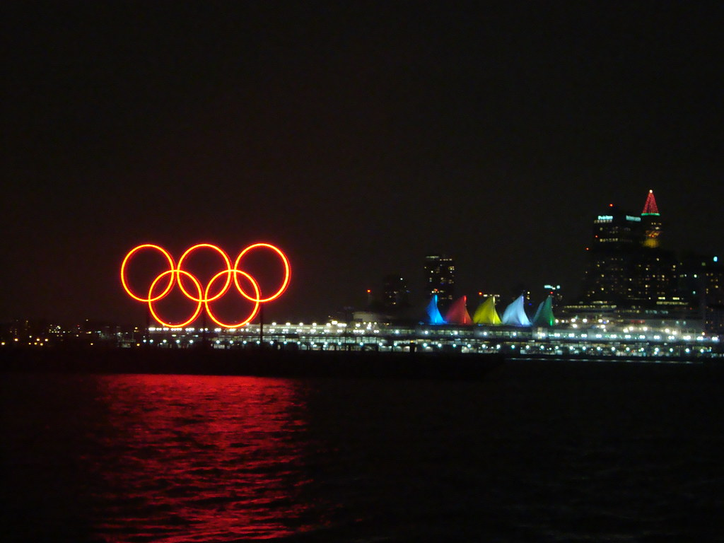 NYE Vancouver: Olympic Rings in Harbour and Olympic Colour ...
