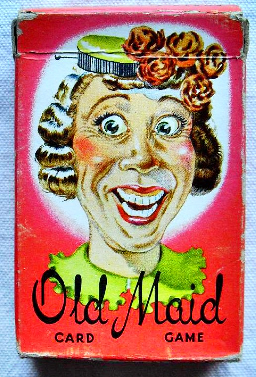 Image result for vintage images of Old Maid card