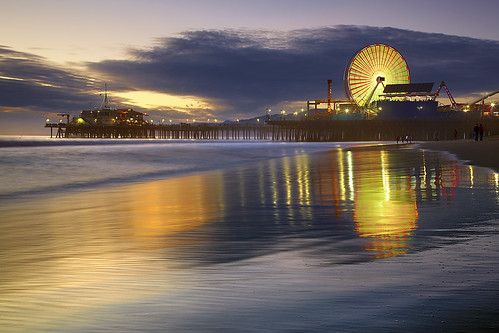 ocean california longexposure travel blue light sunset sea vacation sky people usa holiday seascape color beach water rock architecture night clouds sunrise canon landscape geotagged fun bay la pier losangeles sand santamonica wave socal ferriswheel 5d nocturne mkii 5dmkii
