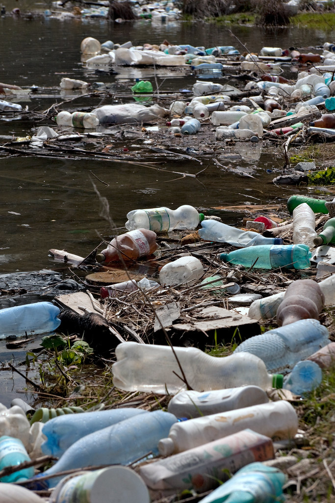 Plastic Bottles And Garbage On The Bank Of A River Flickr