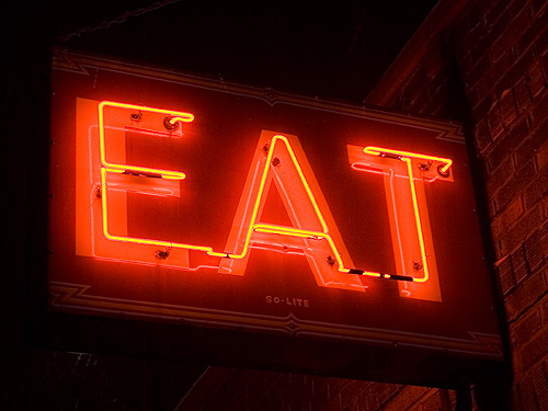 Eat Sign - La Cabana 7439 | A Eat Sign at La Cabana on Natio