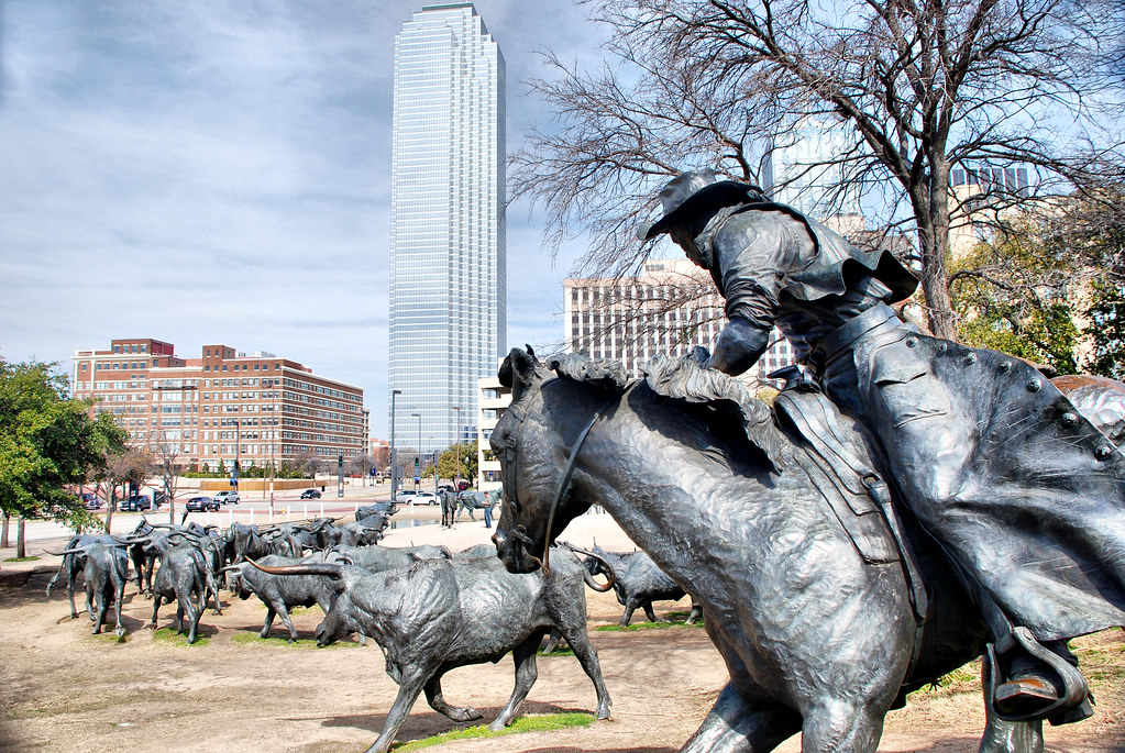 Cattle Drive Sculpture Dallas Texas Pioneer Plaza World S