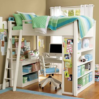 Pbteen Loft Bed Loft Bed With Desk And Bookcase Suneestevens Flickr