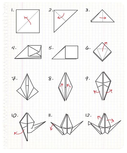Easy Origami – Swan   Origami easy, Creative origami, Origami swan   640x532