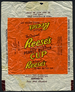 Hershey's Reese's Peanut Butter Cup - candy wrapper - 1950's 1960's | by JasonLiebig