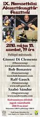 2010. május 9. 17:50 - IX. Nemzetközi Akusztikusgitár Fesztivál