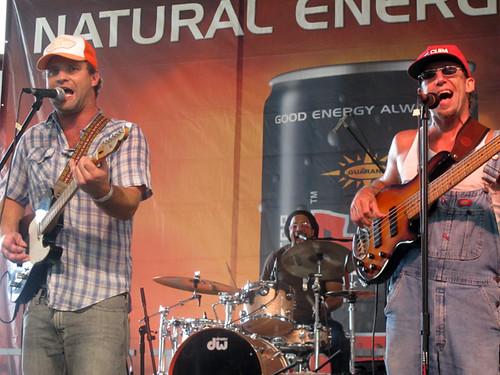 Aaron Wilkinson, Garland Paul, and Sam Price of Honey Island Swamp Band at Gulf Aid