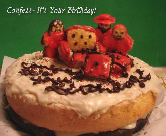Phenomenal Spanish Inquisition Cake Cristina Tina Flickr Funny Birthday Cards Online Inifodamsfinfo
