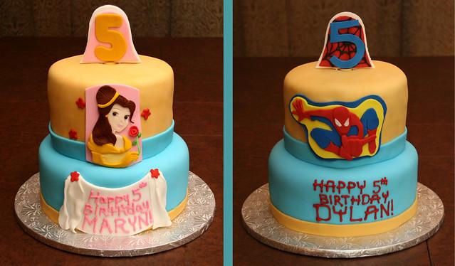 Belle / Spiderman Cake