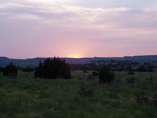 Sunset from the north flank of Black Mesa.