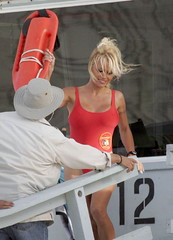 Pamela Anderson, Baywatch, TV advertisement, 2007.
