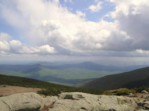 mountain nature rock clouds forest landscape rocks top