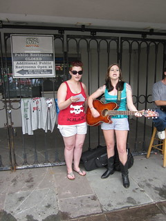 NOLA BP Oil Flood Protest Singers 2