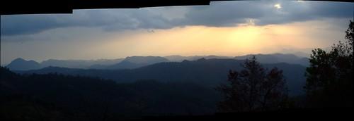 sunset autostitch panorama clouds thailand hills uncropped 2010 maehongson 10millionphotos tbgplaygroundforpsychotics mayjune2010 giwlom กิ่ลม
