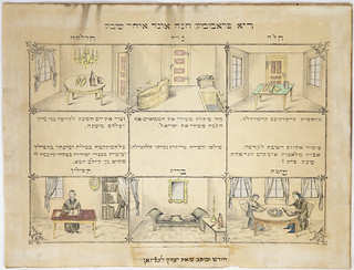 Print [67.1.6.25]: Di fromme chaneh und ikher shabes (The pious Hannah and her Sabbath) by  Isaac Levison (Alsace-Lorraine, France, 1701 - 1900)