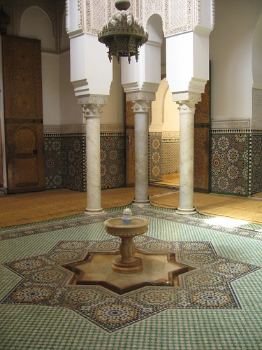 The 'fountain hall' in the Mausoleum of Moulay Ismaïl, Meknes | by Mary Loosemore