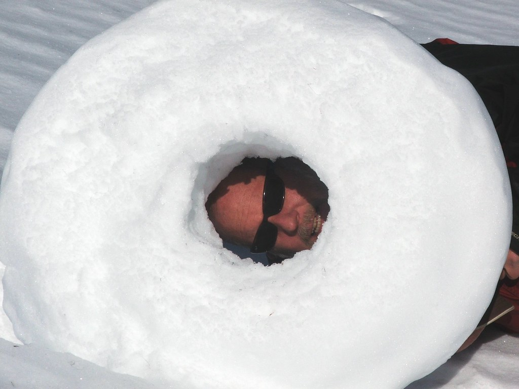 The snow donut and Mike Stanford