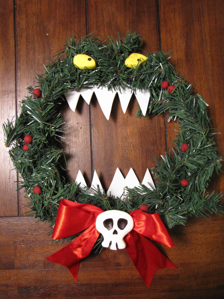 Nightmare Before Christmas Killer Wreath Made From A Dolla Flickr