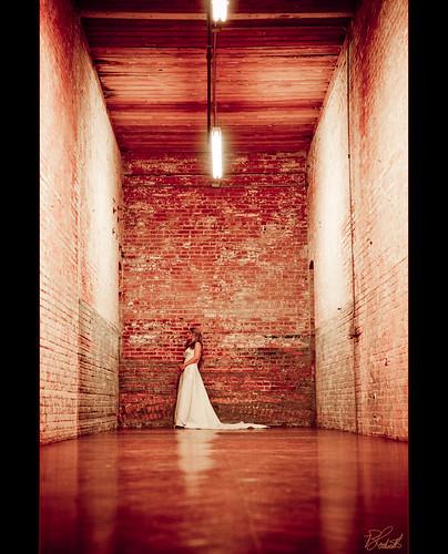 wedding red bride nikon texas dress bricks brickwall weddingdress bridal frisco mckinney cottonmill d300 haltom
