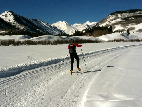 Cross Country Skiing In Crested Butte, Colorado, USA | by TRAILSOURCE.COM
